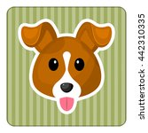 cute dog colorful icon. vector... | Shutterstock .eps vector #442310335