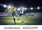 hot football moments . mixed...   Shutterstock . vector #442312459