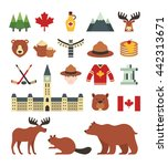 a set of canada icons | Shutterstock .eps vector #442313671