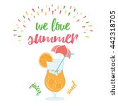we love summer holiday and... | Shutterstock . vector #442318705