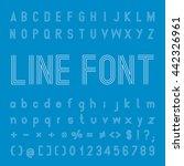 line font design | Shutterstock .eps vector #442326961