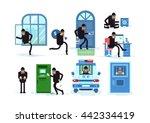 set offenders break window ... | Shutterstock .eps vector #442334419