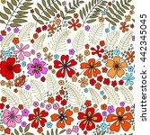 floral seamless pattern....   Shutterstock .eps vector #442345045