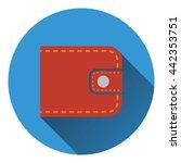 wallet icon. flat color design. ...