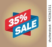 35  sale arrow tag sign icon.... | Shutterstock .eps vector #442361311