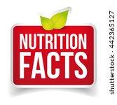 nutrition facts button vector   Shutterstock .eps vector #442365127