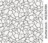 seamless floral zentangle... | Shutterstock . vector #442365484
