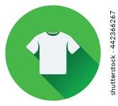 t shirt icon. flat color design....