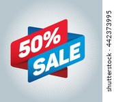 50  sale arrow tag sign icon.... | Shutterstock .eps vector #442373995