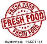 fresh food. stamp | Shutterstock .eps vector #442375465