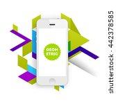 geometric vector background.... | Shutterstock .eps vector #442378585