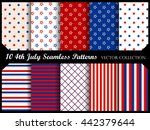 4th of july stars and stripes... | Shutterstock .eps vector #442379644
