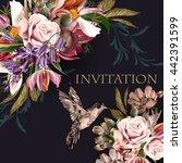 fashion background illustration ... | Shutterstock .eps vector #442391599