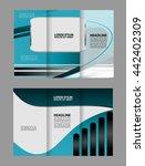 custom tri fold brochure... | Shutterstock .eps vector #442402309