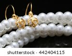 ear ring with pearl and... | Shutterstock . vector #442404115