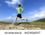 healthy young woman trail... | Shutterstock . vector #442406047