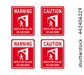 warning caution sign vector set ... | Shutterstock .eps vector #442406329