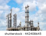 refineries at the blue sky... | Shutterstock . vector #442408645