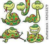 vector illustration of cartoon... | Shutterstock .eps vector #442413379