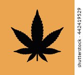 marijuana leaf vector icon | Shutterstock .eps vector #442419529