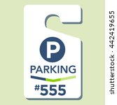 paid business parking permit | Shutterstock .eps vector #442419655