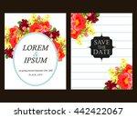 romantic invitation. wedding ... | Shutterstock .eps vector #442422067
