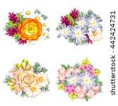 flower set | Shutterstock .eps vector #442424731
