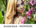 beautiful young woman in a... | Shutterstock . vector #442445281