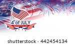 4 july independence day   Shutterstock . vector #442454134