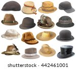 large collection of hats... | Shutterstock . vector #442461001