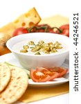 one serving of homemade cheese... | Shutterstock . vector #44246521
