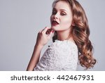 makeup and hair model | Shutterstock . vector #442467931