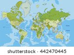 highly detailed political world ... | Shutterstock .eps vector #442470445