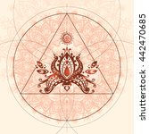 mandala with mathematical... | Shutterstock . vector #442470685
