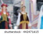 folk dance concert theme... | Shutterstock . vector #442471615