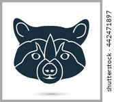 raccoon icon on the background | Shutterstock .eps vector #442471897