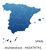 map of spain | Shutterstock .eps vector #442474741