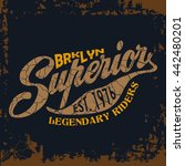 grunge t shirt graphic design ... | Shutterstock .eps vector #442480201