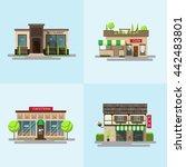 vector set of detailed flat... | Shutterstock .eps vector #442483801
