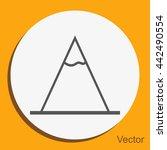vector mountains icon symbol | Shutterstock .eps vector #442490554