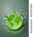 concept of eco friendly and... | Shutterstock .eps vector #442492369