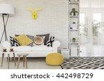 shot of a sofa in a modern... | Shutterstock . vector #442498729