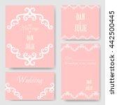 vector decorative monograms for ... | Shutterstock .eps vector #442500445