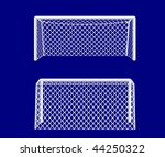 soccer goal realistic front and ... | Shutterstock .eps vector #44250322