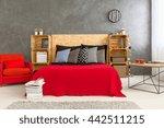 modern designed bedroom with... | Shutterstock . vector #442511215