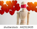 Wood Man Figure Blind With Red...