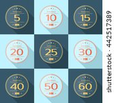vector set of anniversary signs ... | Shutterstock .eps vector #442517389