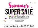 summer sale banner template ... | Shutterstock .eps vector #442521145