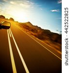 road trip  car on the highway ... | Shutterstock . vector #442522825