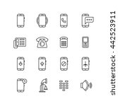 phone  telephone  smartphone... | Shutterstock . vector #442523911